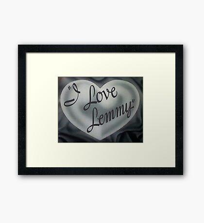 Lemmy Framed Print