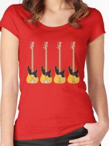 '51 P-Bass '57 P-Bass Women's Fitted Scoop T-Shirt