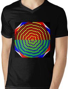 Digital Sunset Mens V-Neck T-Shirt