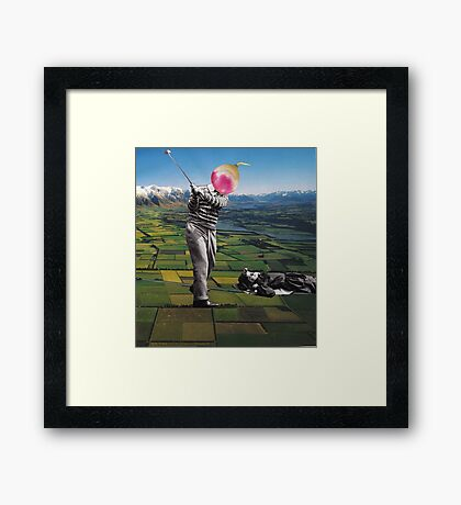 Back to the ground Framed Print