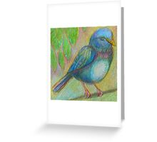 Blue Bird Illustration Greeting Card