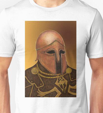 Warrior In Copper Helmet   Unisex T-Shirt
