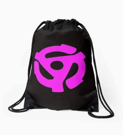 45 Record centrepiece in Pink Drawstring Bag