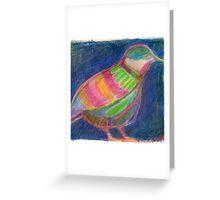Colourful Quail Illustration Greeting Card