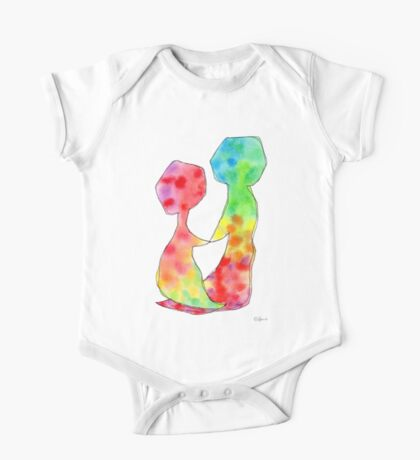"""""""LOVE LOVE LOVE""""  Original Watercolor Painting by Lenna One Piece - Short Sleeve"""