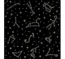 Western Zodiac Constellation Pattern Photographic Print