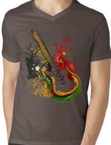 Electric guitar. Mens V-Neck T-Shirt
