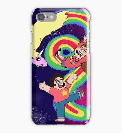 Falling Adventures Through the Universe Print iPhone Case/Skin