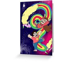 Falling Adventures Through the Universe Print Greeting Card