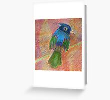 Happy little bird drawing Greeting Card