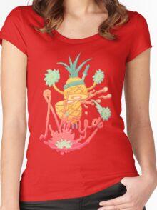 Ninja pineapple Women's Fitted Scoop T-Shirt