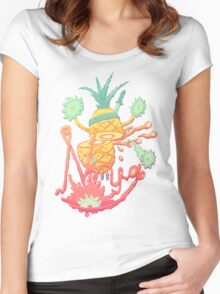 Ninja pineapple Women's Fitted Scoop T-Shirt