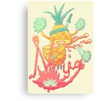 Ninja pineapple Canvas Print