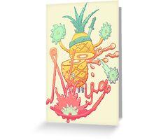 Ninja pineapple Greeting Card
