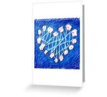 Rose Quartz Crystal Heart Greeting Card