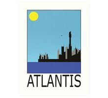 Stargate SG1 - Retro Travel Poster (Atlantis) Art Print