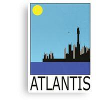 Stargate SG1 - Retro Travel Poster (Atlantis) Canvas Print