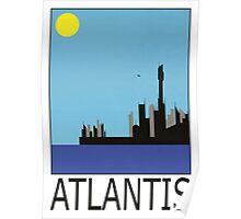 Stargate SG1 - Retro Travel Poster (Atlantis) Poster
