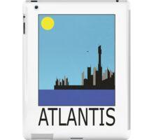 Stargate SG1 - Retro Travel Poster (Atlantis) iPad Case/Skin