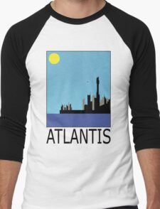 Stargate SG1 - Retro Travel Poster (Atlantis) Men's Baseball ¾ T-Shirt