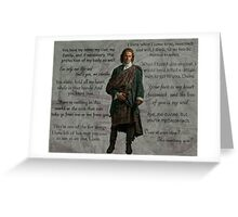 Outlander/Jamie Fraser quotes and thoughts Greeting Card