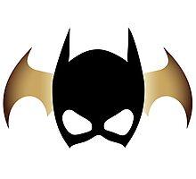 Batgirl Mask over bat Photographic Print