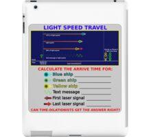 Science - Light Speed Travel iPad Case/Skin