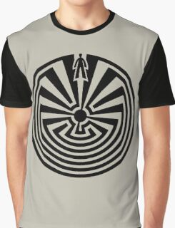 Man in the Maze, Journey through life, I'itoi, Papago Graphic T-Shirt