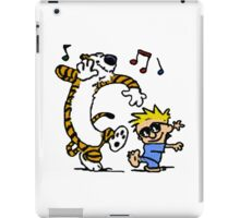 Calvin And Hobbes Dancing iPad Case/Skin