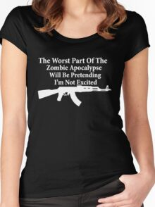 The worst part of the Zombie Apocalypse Women's Fitted Scoop T-Shirt