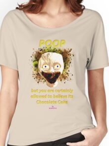 Poop by Glafizya Women's Relaxed Fit T-Shirt