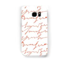 Orange hand writings romantic pattern Samsung Galaxy Case/Skin