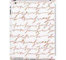 Orange hand writings romantic pattern iPad Case/Skin