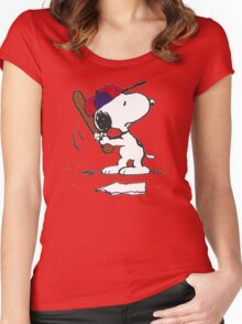 Snoopy golf fun Women's Fitted Scoop T-Shirt