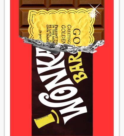 Wonka Chocolate Bar Golden Ticket Sticker