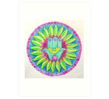 Lovely Mandala with Hamsa Symbol Art Print