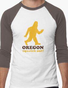 Squatch Out Oregon Men's Baseball ¾ T-Shirt