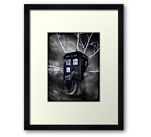 Lightning Blue Box Framed Print