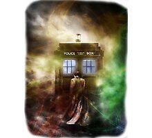 Fantasy Fog Blue Box Photographic Print