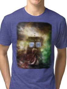 Fantasy Fog Blue Box Tri-blend T-Shirt