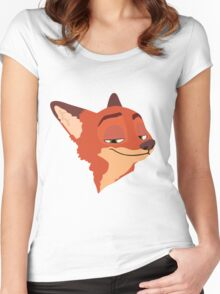 Nick Wilde  Women's Fitted Scoop T-Shirt