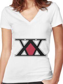 Hunter : Logo Women's Fitted V-Neck T-Shirt