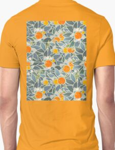 oranges and leaves vintage pattern Unisex T-Shirt