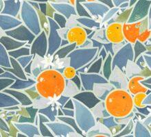 oranges and leaves vintage pattern Sticker