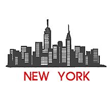 New York - City Skyline Photographic Print