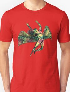 ICARUS THROWS THE HORNS - pink pastel T-Shirt