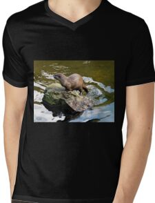Asian Small-clawed Otter 2 Mens V-Neck T-Shirt