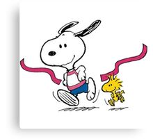 snoopy-running Canvas Print