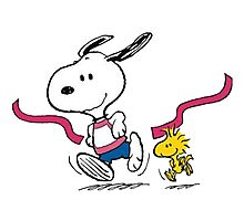 snoopy-running Photographic Print