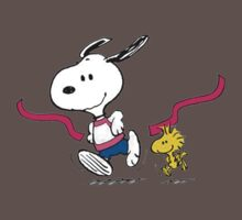 snoopy-running One Piece - Short Sleeve